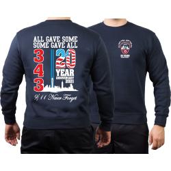 Sweat azul marino, 9/11 WTC 20 YEARS - NEVER FORGET (2021...