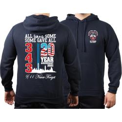 Hoodie navy, 9/11 WTC 2ß YEARS - NEVER FORGET (2021...