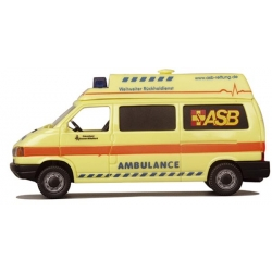 Modell 1:87 VW T4 HD, ASB Ambulance Rückholdienst