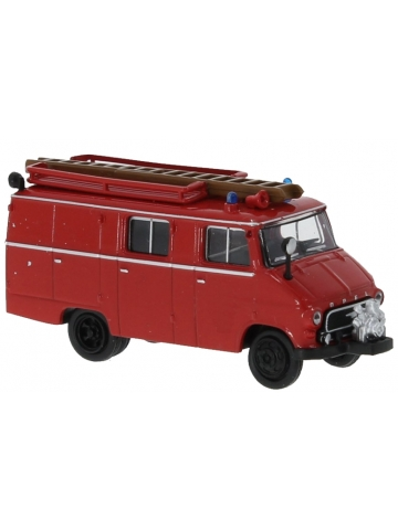 Modell 1:87 Opel Blitz LF 8, 1,9 t (1960-65) rot mit schwarzer Stoßstange