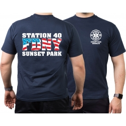 T-Shirt navy, New York City Fire Dept. EMS-Station 40...