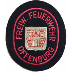 Abzeichen: FF Offenburg (BaWü) 10 x 8,2 cm