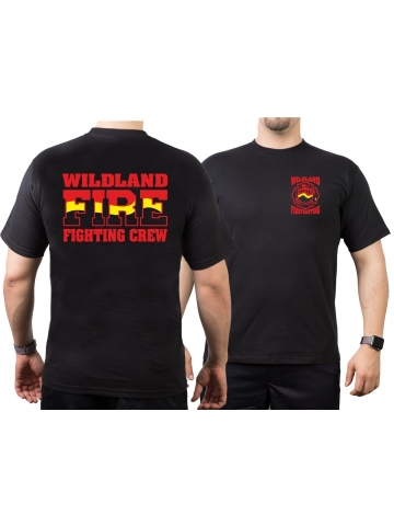 T-Shirt black, Wildland Fire Fighting Crew