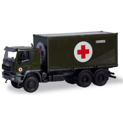 Modell 1:87 Iveco Trakker 6x6 Container-LKW, Bundeswehr...