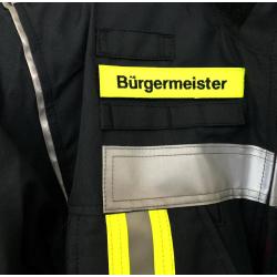 Klettnamen neongelb: Bürgermeister 12,5 x 2,5 cm