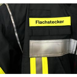 Klettnamen neongelb: Flachstecker 12,5 x 2,5 cm