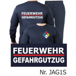 Sweat-Jogginganzug navy, FEUERWEHR GEFAHRGUTZUG (GGS) mit...