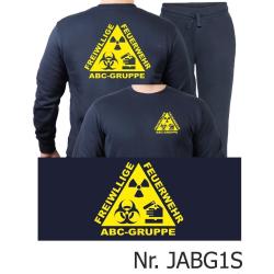 Sweat-Jogginganzug navy, ABC-GRUPPE FREIWILLIGE FEUERWEHR