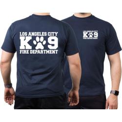 T-Shirt navy, Los Angeles City Fire Department, K9 Unit