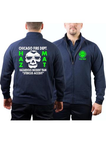 CHICAGO FIRE Dept. HAZ MAT Incident Team (Gefahrguteinheit), navy Sweatjacke (S-3XL)