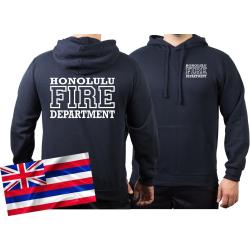 Hoodie navy, Honolulu Fire Dept. (Hawaii), work