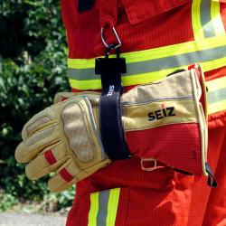Seiz-Handschuhhalter flammhemmend mit Karabiner