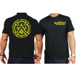 "T-shirt navy, New York City Fire Dept. ""HazMat Co.1"" (Hazardous Materials/Gefahrguteinheit)"