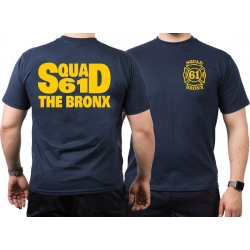 T-Shirt navy, New York City Fire Dept. Squad 61 The Bronx