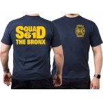 T-Shirt azul marino, New York City Fire Dept. Squad 61 The Bronx