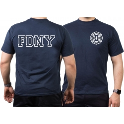 T-Shirt navy, New York City Fire Dept. (outline) -...
