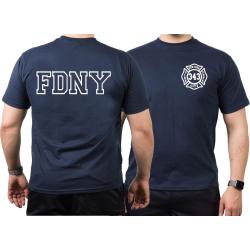 T-Shirt azul marino, New York City Fire Dept. (outline) -...