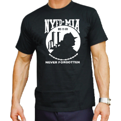 T-Shirt (black): NYFD-MIA , Gr. XL