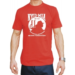 T-Shirt red, New York City Fire Dept. MIA (Missing in...