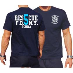 T-Shirt navy, Rescue5 (blue) Staten Island