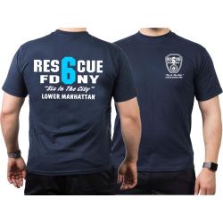 T-Shirt navy, New York City Fire Dept. Rescue 6 (blue)...