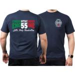 T-Shirt navy, New York City Fire Dept. Little Italy Manhattan (E-55)