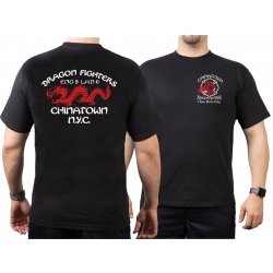 T-Shirt black, New York City Fire Dept. Dragon Fighters...