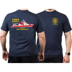 T-Shirt marin, New Yorker Feuerwehr Marine 9...