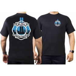 T-Shirt 9/11 black/blue