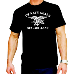 T-Shirt black, NAVY SEAL (Sea - Air Land) L
