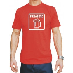 """T-Shirt rouge, """"FIREABEND"""""""