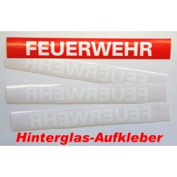"""Aufkleber """"FEUERWEHR"""" rot mit weisser Schrift..."""
