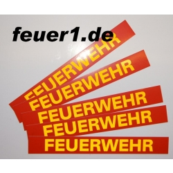 """Aufkleber """"FEUERWEHR"""" rot mit gelb..."""
