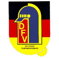 Sticker DFV auf Deutschlandflagge 10,5 x 7,5 cm