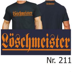 """T-Shirt black, """"Löschmeister"""" in orange..."""