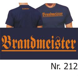 "T-Shirt black, ""Brandmeister"" in orange (Brust..."
