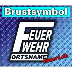 """Brustsymbol """"FW zweizeilig"""" Farbe der..."""