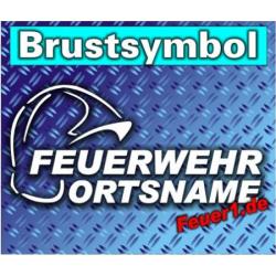 """Brustsymbol """"FW con Gallethelm"""" Farbe der..."""