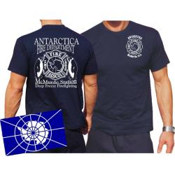 T-Shirt navy, ANTARCTICA FD
