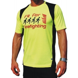 Laufshirt neonyellow, Fit for Firefighting, breathable