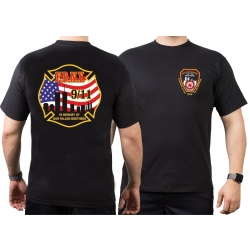 "T-Shirt black, ""In Memory of..."" 4farbig"