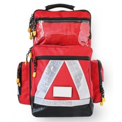 Notfallrucksack Pro Red leer
