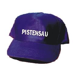 """Cap: """"Pistensau"""" navy-weiss, aus Baumwolle"""