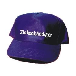 """Cap: """"Zickenbändiger"""" navy-weiß, aus..."""