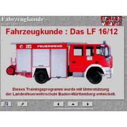 CD-ROM: Fahrzeugkunde LF 16-12, interaktiv