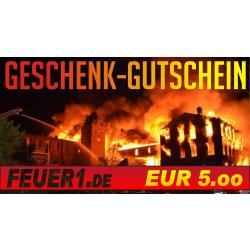 Geschenkgutschein im Wert von EUR 5,00
