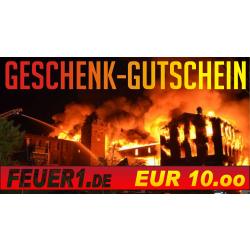 Geschenkgutschein im Wert von EUR 10,00