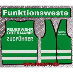 Funktionsweste grün, plata-reflexivor Text