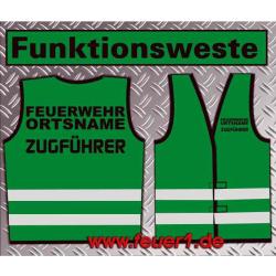 Funktionsweste grün con negro Text