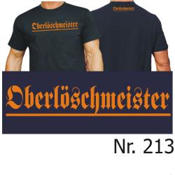 """T-Shirt black, """"Oberlöschmeister"""" orange..."""